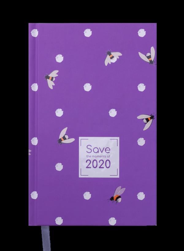 Ежедневник датированный 2020 SAVE, A6, фиолетовый, твердая обложка
