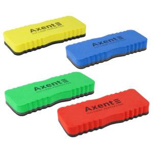 Губка для доски магнитная, яркие цвета, 15*5,7*2см, ТМ Axent большая