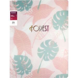 Папка пластиковая А4, Forest на 2 кольца, розовая