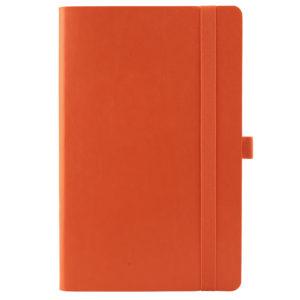 Еженедельник полудатированный А5-, Axent Partner Flex, гибкая обложка, кремовый блок, оранжевый