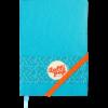 Блокнот деловой LOLLIPOP, А5, 96л., обложка из кожзама, на резинке, в линию, голубой 33881