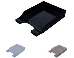 Лоток горизонтальный Симметрия А4,  (черный, прозрачный, дымчатый)