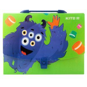 Портфель-коробка пластиковый на застежке А4 Jolliers, 1отд. K19-209