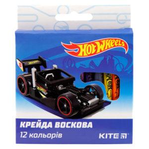 Мелки восковые 12 цветов Hot Wheels, диаметр 8мм HW19-070