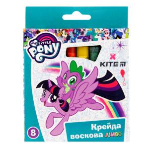 Мелки восковые JUMBO 8 цветов My Little Pony, диаметр 12мм LP19-076