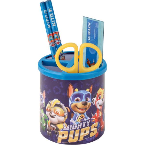 Набор настольный на 3 отделения PAW20-205, линейка, 2 карандаша, ножницы, металлический