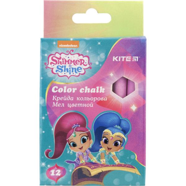 Мел цветной цилиндрический 6 цветов, 12шт. Shimmer & Shine SH18-075