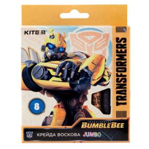 Мелки восковые JUMBO 8 цветов Transformers, диаметр 12мм TF19-076