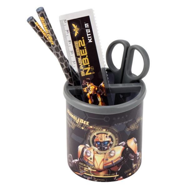 Набор настольный на 3 отделения TF19-205, линейка, 2 карандаша, ножницы, металлический