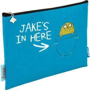 Пенал Kite Adventure Time 687 18×24,5×0,5см, 3 отделения, AT17-687