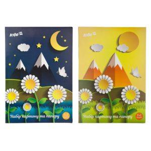 Набор бумага+картон цветная односторонняя (7+7), А4 Kite K17-1256