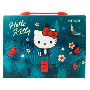 Портфель-коробка пластиковый на застежке А4 Hello Kitty, 1отд. HK19-209