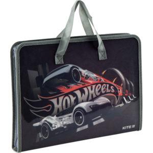 Папка-портфель пластиковая на молнии 1 отд, А4, Hot Wheels HW19-202