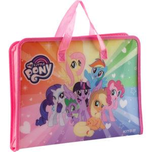 Папка-портфель пластиковая на молнии 1 отд, А4, My Little Pony LP19-202