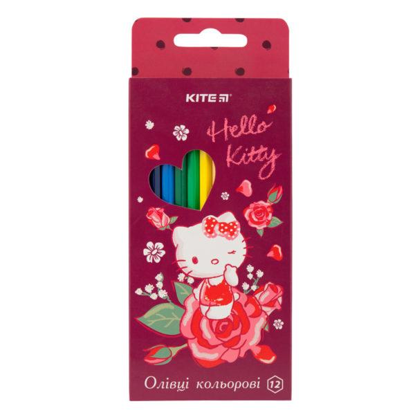 Карандаши цветные шестигранные Hello Kitty 12 цветов, HK19-051