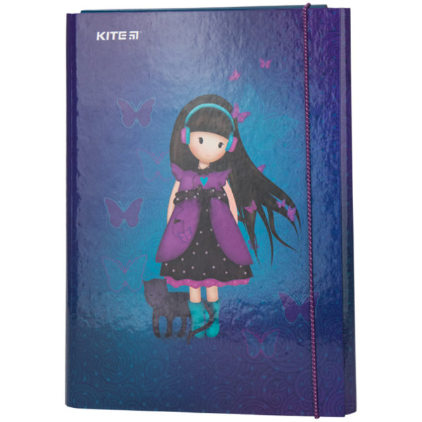 Папка для труда А4, на резинке, Kite Charming ламинированный картон, K20-213-01