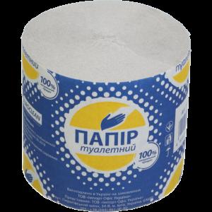 Туалетная бумага макулатурная, без гильзы