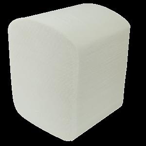 Туалетная бумага в листах целлюлоза, 2-х слойная, 150шт. белая