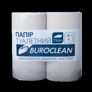 """Туалетная бумага макулатурная """"Buroclean"""", 4шт/уп, серая"""