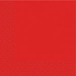 Салфетки 33х33 Марго красные