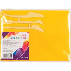Доска для пластилина со стеками, 3 инструмента, 180х250мм, желтый K17-1140-08