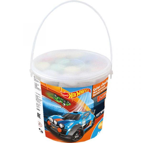 Мел цветной JUMBO Hot Wheels HW16-074 15 шт. в пластик. ведре