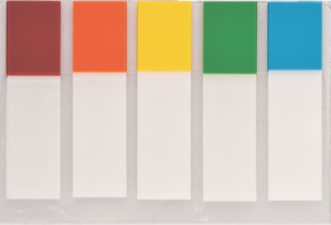 Закладки пластиковые с клейким слоем 45х12шт, 100шт