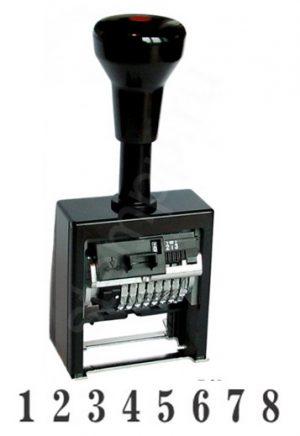 Нумератор автоматический 8 разрядов, 4,5мм, металл/пластик