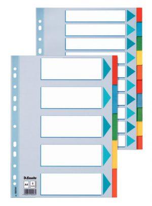 Разделители картонные А4, 1-5, цветные