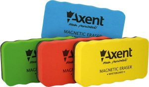 Губка для доски магнитная, яркие цвета, 11х5,6х2см, ТМ Axent