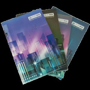 Книга канцелярская А4, 96 листов JOBMAX, картонная обложка, клетка
