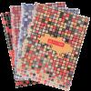 Книга канцелярская MOSAIC А4, 80 листов, твердая обложка, клетка
