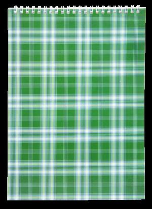 Блокнот  А7, 48 листов, пружина сверху, клетка