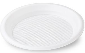 Тарелка пластиковая d-20,5см, 100шт, белая