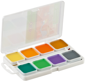 Акварельные краски медовые 16 цветов, пластик