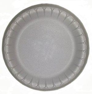 Тарелка вспененная,  100шт, белая