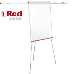 Флипчарт на треноге Еврочарт RED МАГНИТНЫЙ, 70х100см с двумя боковыми планками