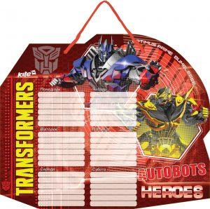 Доска сухостираемая с расп. занятий + маркер Transformers TF15-145K