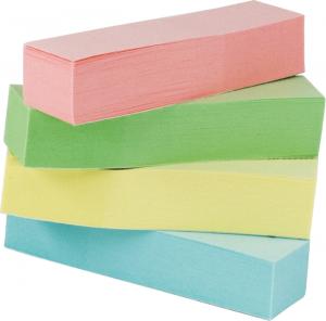 Закладки бумажные с клейким слоем 4х100шт