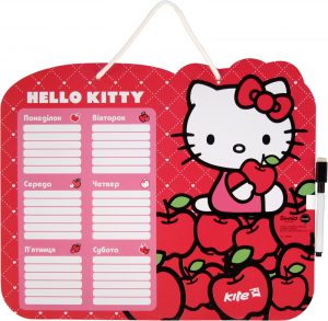 Доска сухостираемая с расписанием занятий + маркер Hello Kitty HK14-145K
