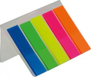 Закладки пластиковые с клейким слоем 5х25шт