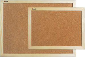 Доска пробковая информационная ТМ Axent, в деревянной рамке
