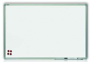 Доска керамическая магнитная для маркера ТМ 2х3, белая, в рамке ALU23